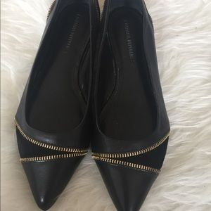Banana Republic Leather & Suede Pointed Flats sz7